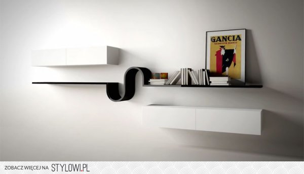 Wandregal Design Wave Minimalistisches Wandregal Design Wave Von Novamobili  Na Stylowi.pl