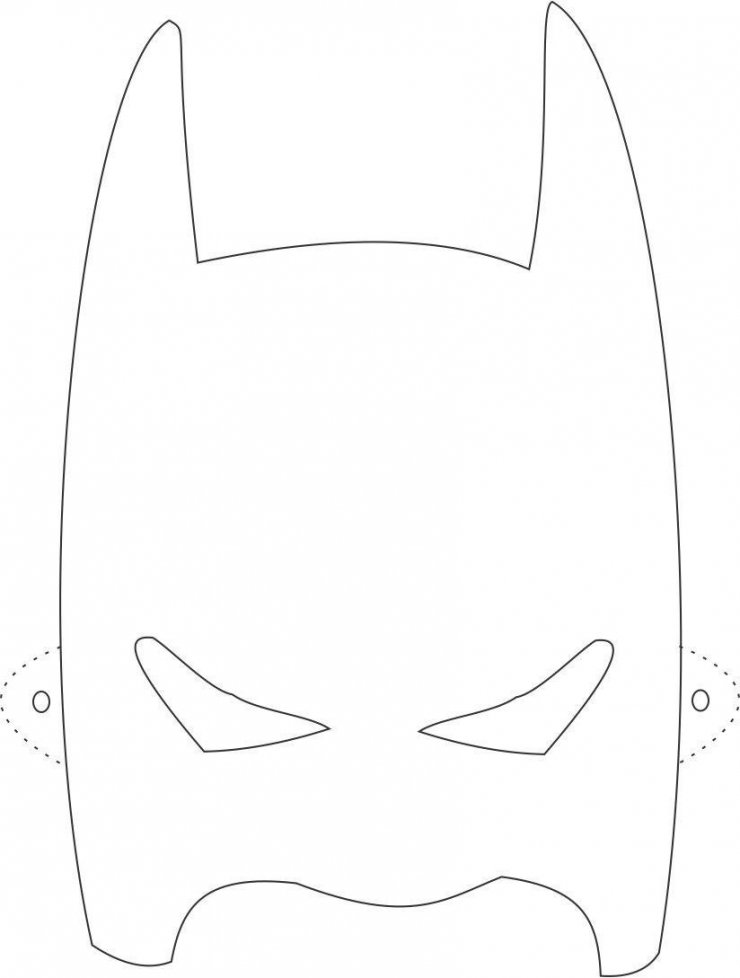 Batman eye mask coloring pages for Freepl
