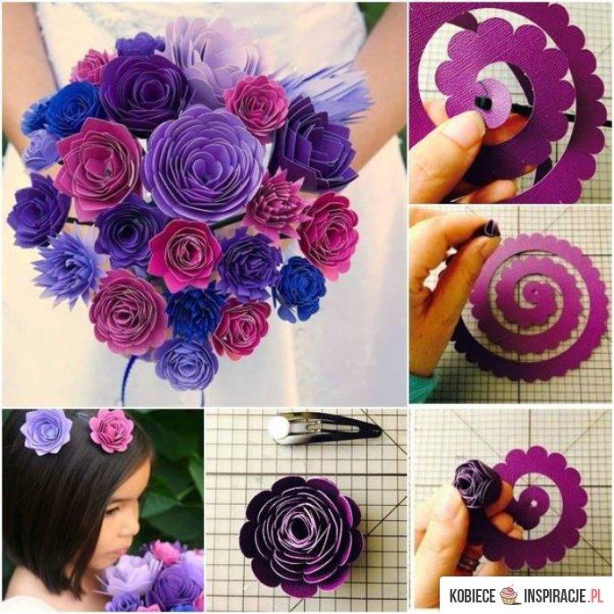 kwiaty z papieru diy crafts