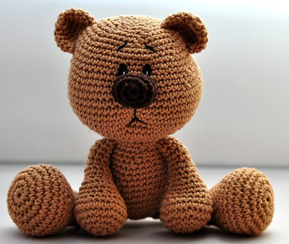 crochet pattern amigurumi teddy teddy bear by motleycr na. Black Bedroom Furniture Sets. Home Design Ideas