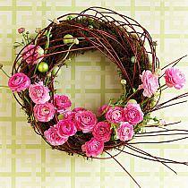 Wielkanoc wiosna na - Holzkranz dekorieren ...