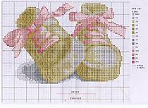 Пинетки крестом схема вышивка 864