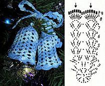 Рождественский колокольчик вязание крючком 80