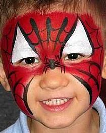 malowanie twarzy spiderman szukaj w google na. Black Bedroom Furniture Sets. Home Design Ideas