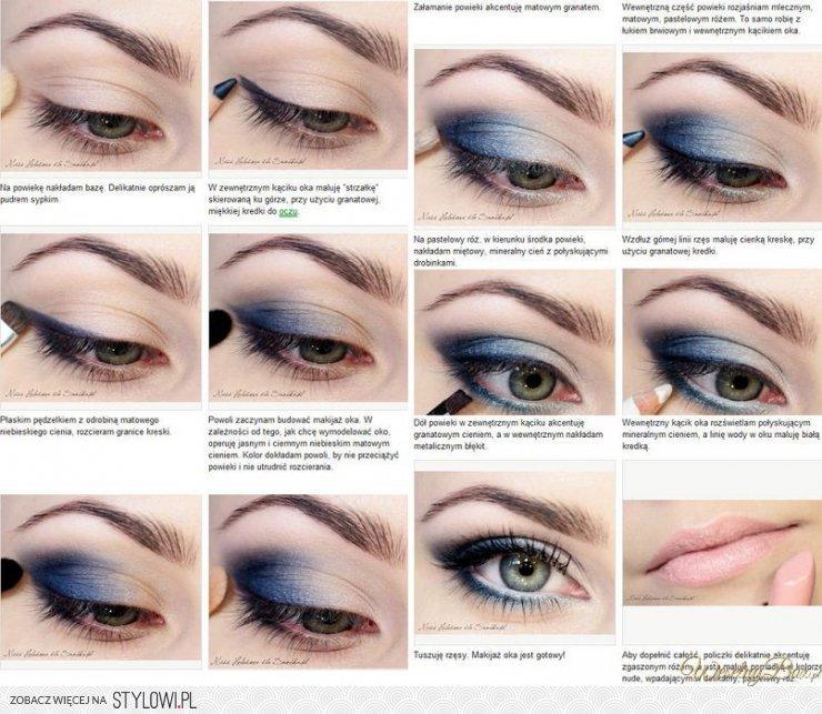 Makijaż Krok Po Kroku Idealny Dla Niebieskich Oczu Na Stylowipl