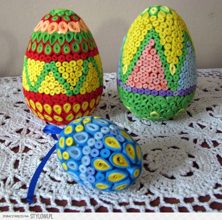 Niewiarygodnie quilling -ozdoby na Wielkanoc na Stylowi.pl UP97
