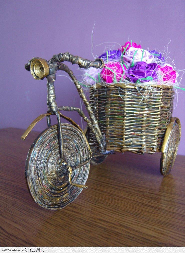 74a65055cce4ae rowerek z papierowej wikliny na Stylowi.pl