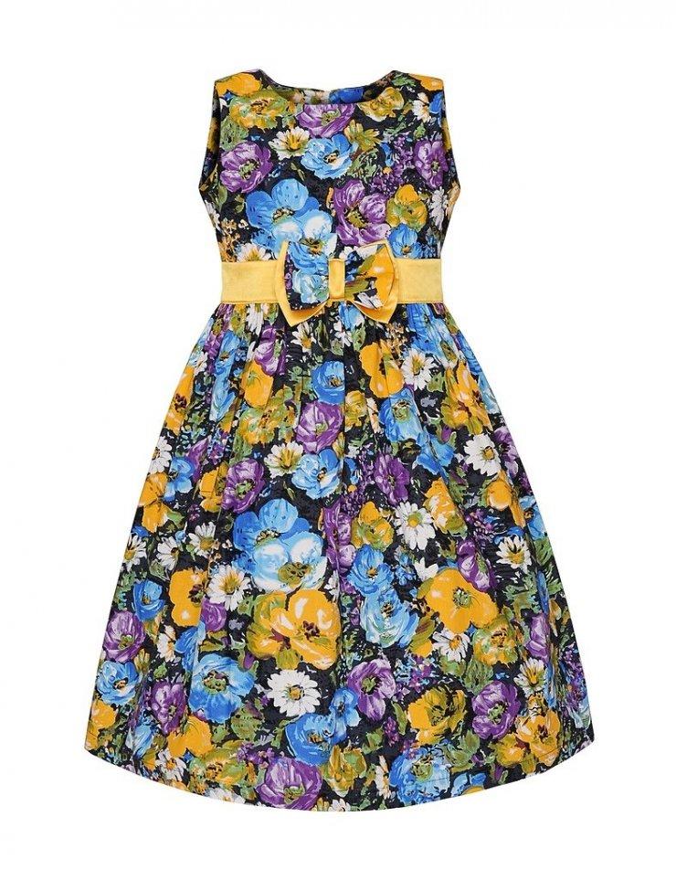 53082c65d8 SUKIENKA NIEBIESKIE KWIATY - Buy4Kids - sukienki dla dz… na Stylowi.pl
