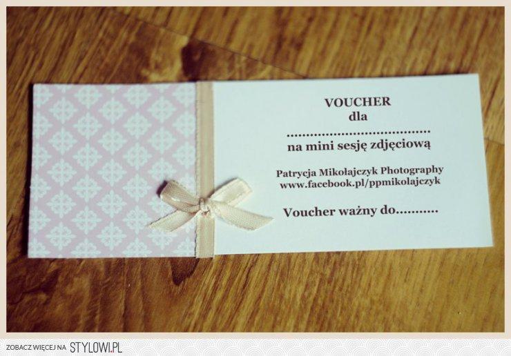 Zaproszenie Voucher Na Mini Sesje Zdjeciowa Na Stylowipl