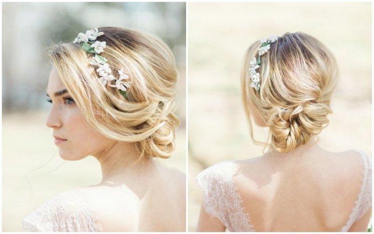 Romantyczne Fryzury ślubne Kwiaty We Włosach Na Stylowipl