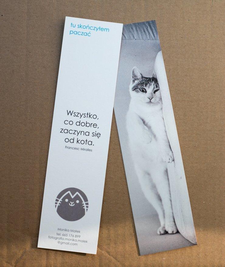 Kocia Zakładka Do Książki Z Bardzo Zmęczonym życiem Kot Na Stylowipl
