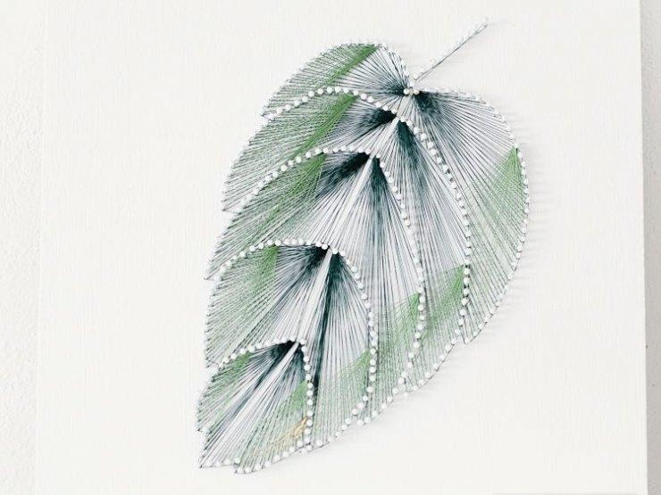 Cudowna Zrób obraz z nici i gwoździ w kształcie liścia na Stylowi.pl VI51