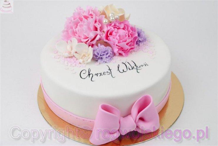 Tort Na Chrzciny Dziewczynki Galeria Tortów Na Stylowipl