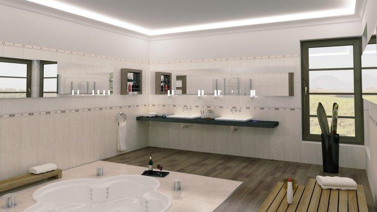 Aranżacja łazienki Przy Użyciu Naszych Listew Z Oświetl Na