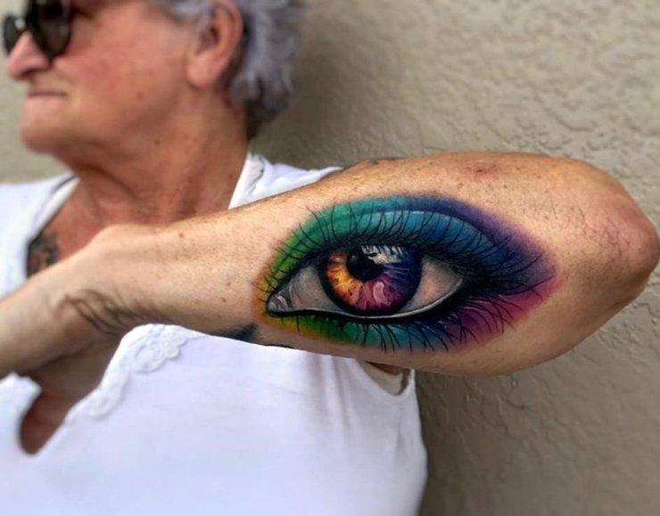 Oko Tatuaż Na łokciu Na Stylowipl