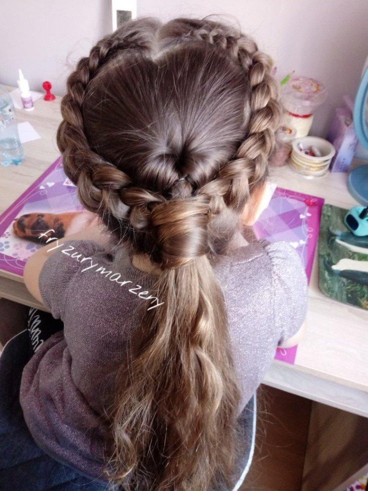 Serce Z Włosów I Warkocze Fryzura Idealna Na Walenty Na