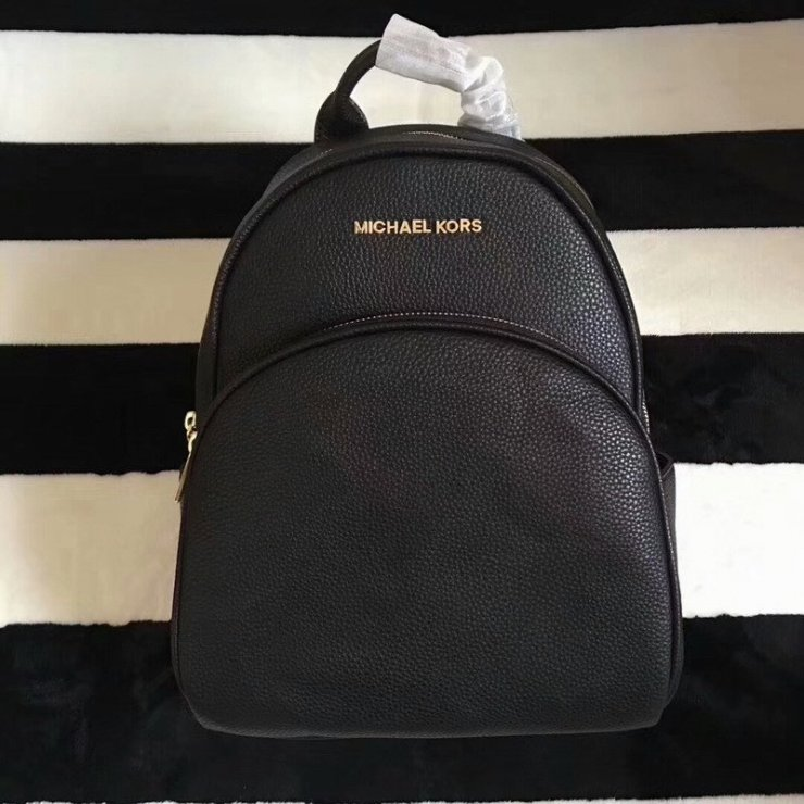 104f32b433eb MICHAEL Michael Kors Abbey Leather Backpack Black na Stylowi.pl