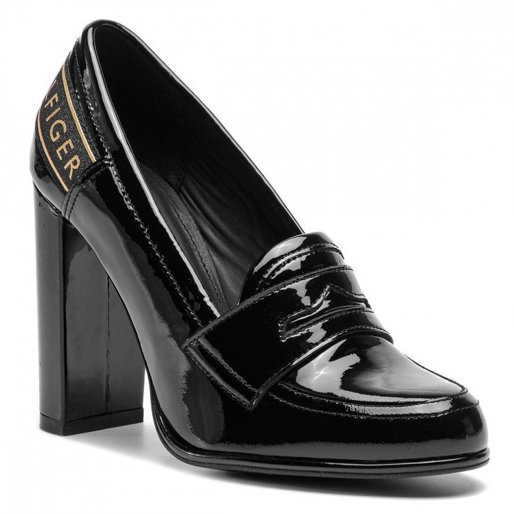 233489d3f341e Półbuty TOMMY HILFIGER - Iconic Patent Loafer FW0FW0400… na Stylowi.pl