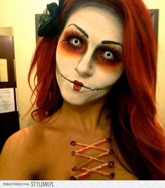 Halloween Creepy Doll Halloween Make Up Na Stylowipl