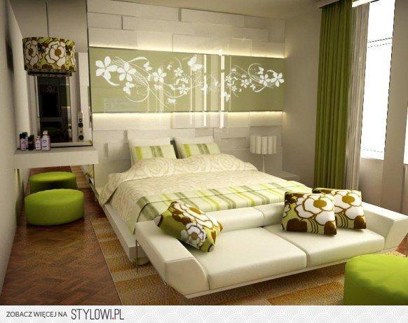 Zielono Biała Sypialnia Na Stylowipl