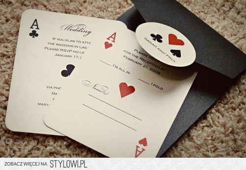 Zaproszenia ślubne W Formie Kart Do Gry W Pokera Na Stylowipl