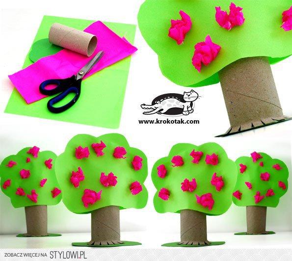 Rolki Po Papierze Wiosenne Drzewo Na Stylowipl