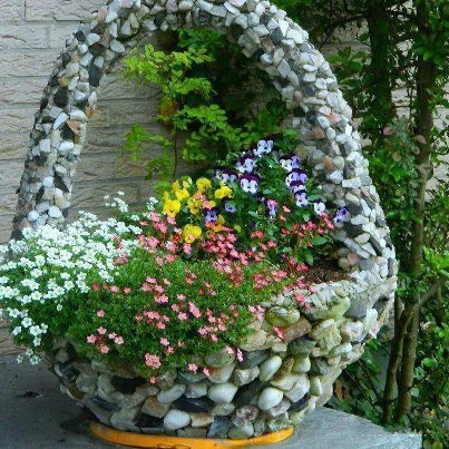 Koszyk Z Kamienia Donica Na Stylowipl