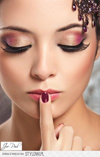 Różowo Złoty Makijaż Oczu Na Stylowipl