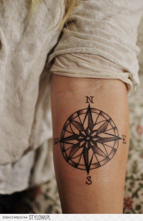 Kompas Tatuaż Na Stylowipl