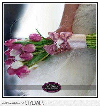 Bukiet ślubny Różowe Tulipany Dekoracje ślubne I Wese Na Stylowipl