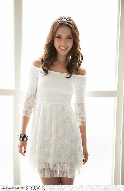2e5474776a Romantyczna Sukienka Japan Style z białej koronki. Lin… na Stylowi.pl