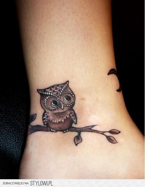Słodka Sowa Idealny Motyw Na Tatuaż Tatuażowo Tost Na