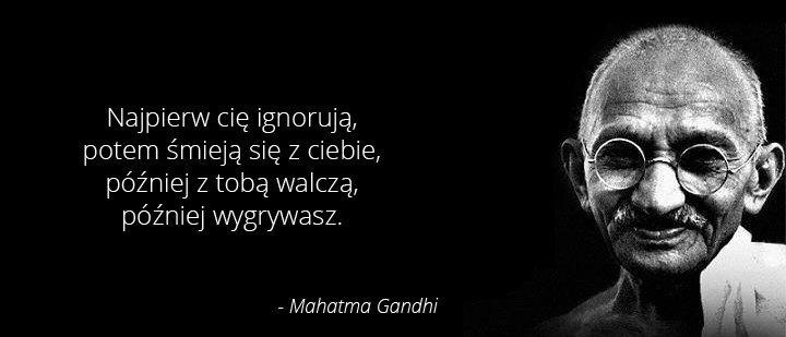 Cytaty Wielkich Ludzi Gandhi Inspirujące Obrazki Na Stylowipl