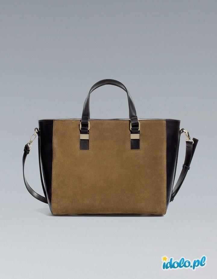 92e2bbb072dbe elegancka torebka ZARA w kolorze brązowym - najmodniejs… na Stylowi.pl