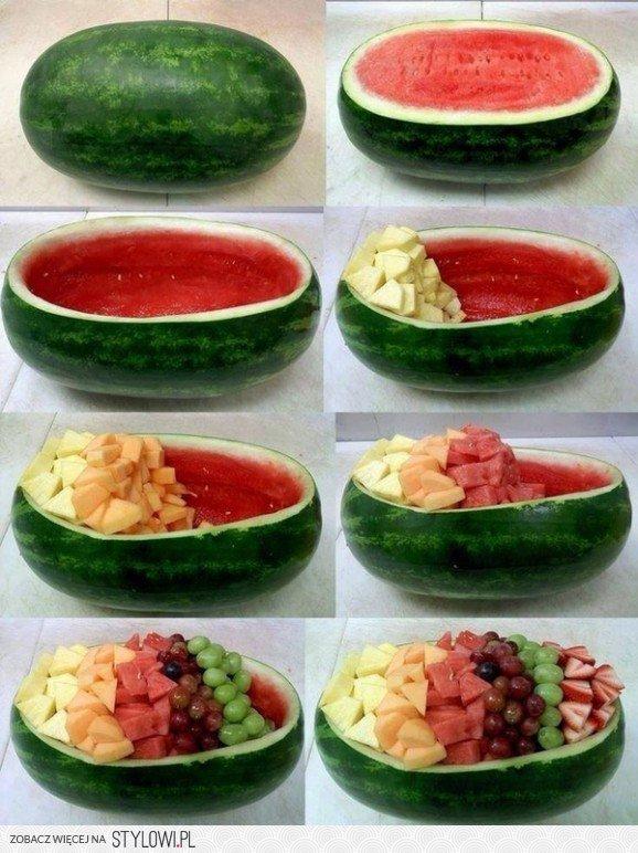 Miska Owoców Z Arbuza Na Stylowipl