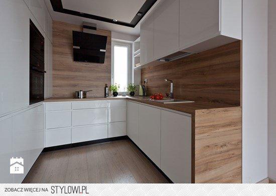 Kuchnia Nowoczesna Biała Z Drewnem Szukaj W Google Na Stylowipl