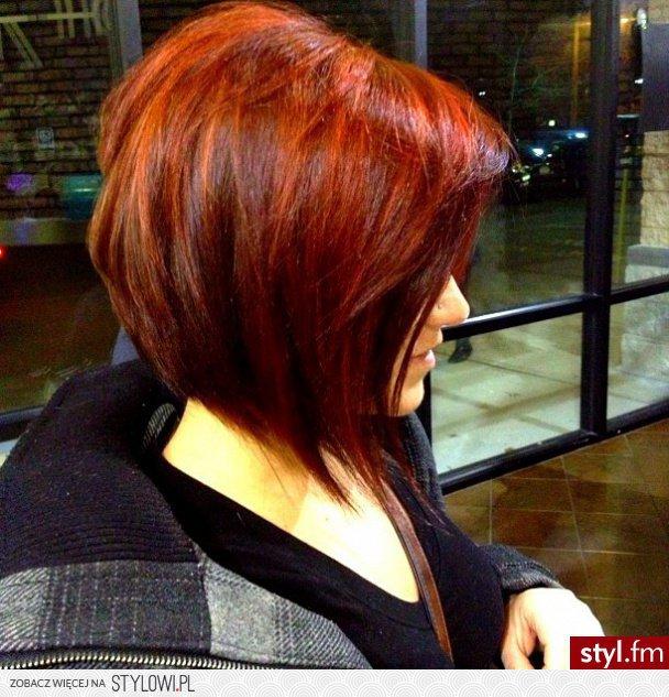 Fryzury Rude Włosy Fryzury średnie Na Co Dzień Proste Na