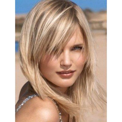 Włosy Blond Z Grzywką Na Stylowipl