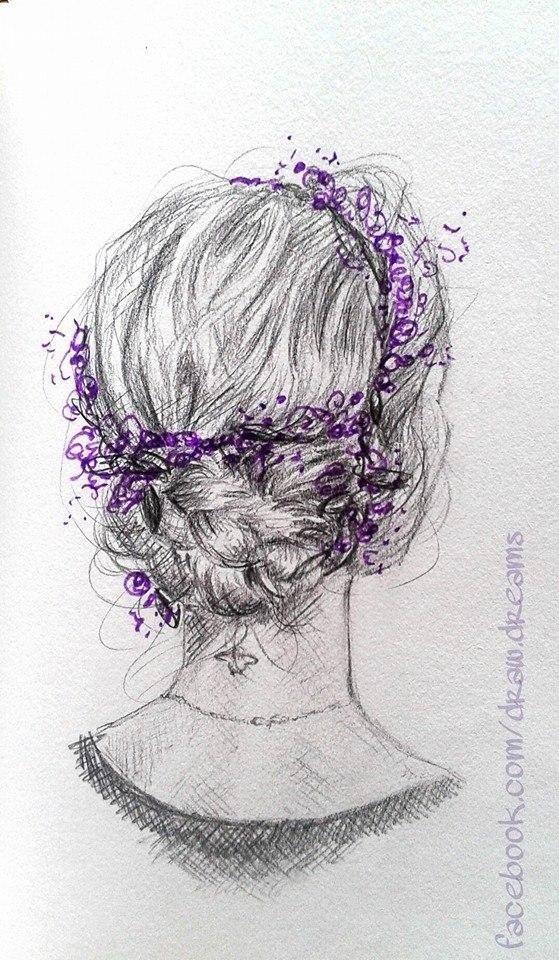 Piękne Włosy Rysunek Ołówkiem Photo Na Stylowipl