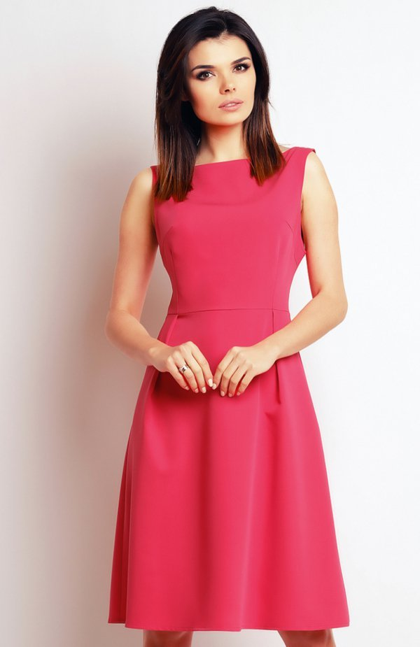f1abcef6bb Infinite You M097 sukienka różowa Subtelna sukienka