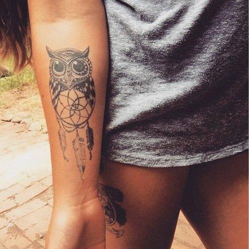 110 Najlepsze Sowa Tatuaże Idee Z Obrazami Kolczyki M Na
