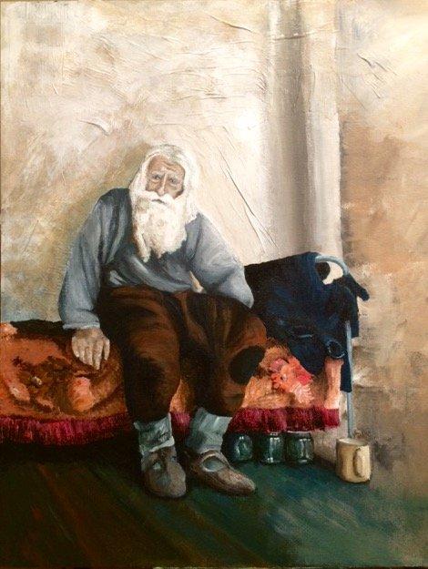Obraz Wykonany Farbami Akrylowymi Na Panelu Pokrytym Pł Na Stylowipl