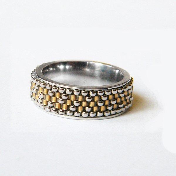 c619253b GAELICO, srebrny pierścionek celtycki, beading na Stylowi.pl