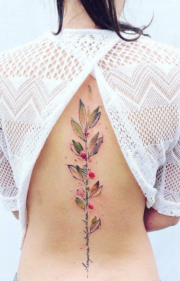 Tatuaż Wzdłuż Pleców Na Kręgosłupie 30 Pięknych Wzoró Na