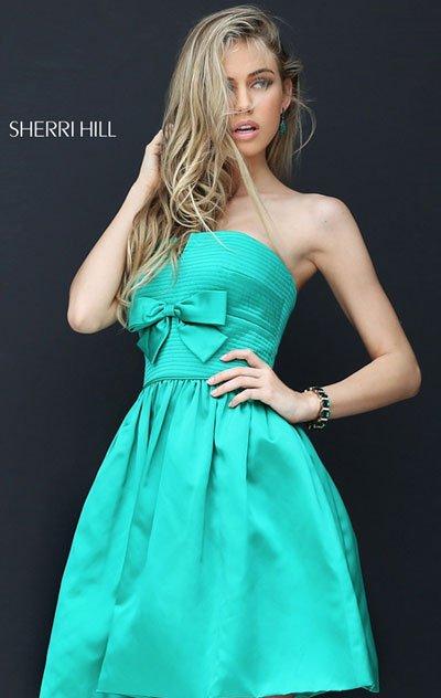 350862e94c0 Sherri Hill 50547 Strapless Emerald Straight Neck Disco… na Stylowi.pl