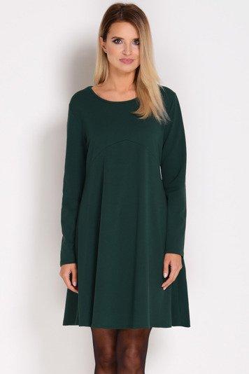 fd0d4f64fb684d AVARO Stylowa trapezowa sukienka SU-1280, Kolor: zielon… na Stylowi.pl