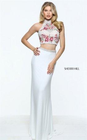 b992d453bceb3 2-Piece Jeweled Sherri Hill 51059 Ivory/Multi Embellish… na Stylowi.pl