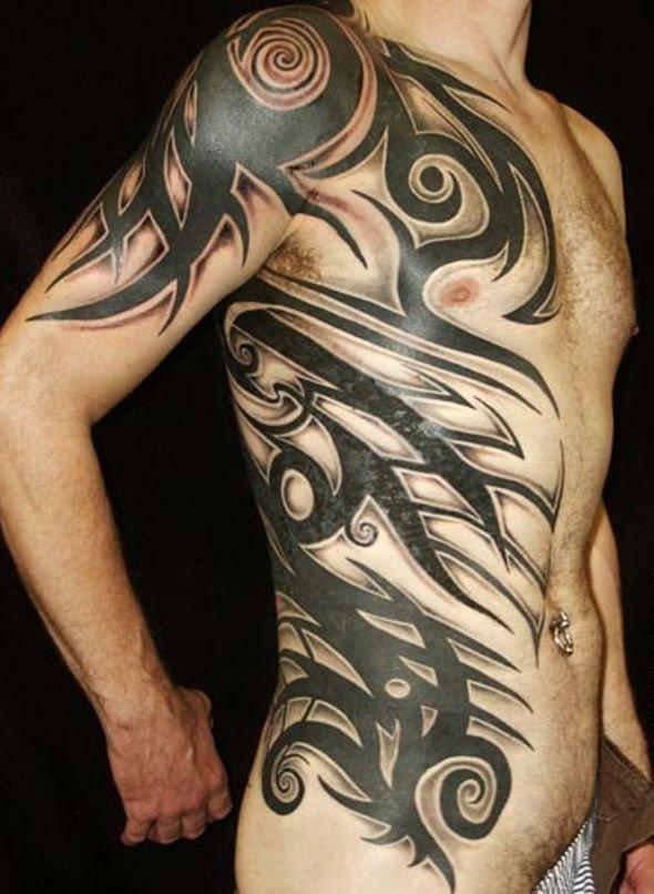 Duże Tribale Tatuaże Dla Mężczyzny Na Stylowipl