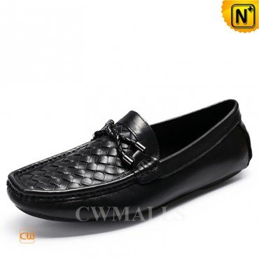 3f07fe67668d2 CWMALLS® Denver Black Leather Penny Loafers CW706163[Cu… na Stylowi.pl