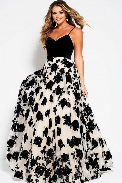35b0cbf8a6 Jovani 52269 Embellished Sweetheart Velvet A-line Dress na Stylowi.pl